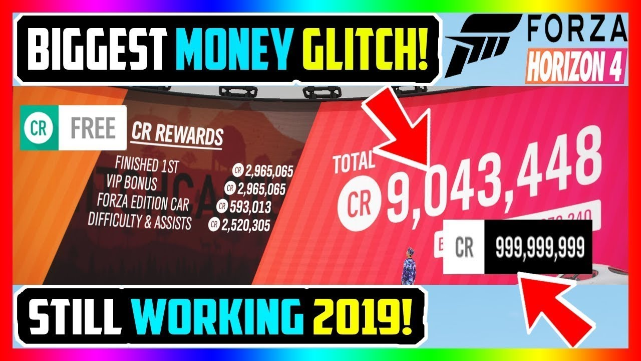 BIGGEST FORZA HORIZON 4 MONEY GLITCH! UNLIMITED CREDITS (STILL WORKING  2019!)