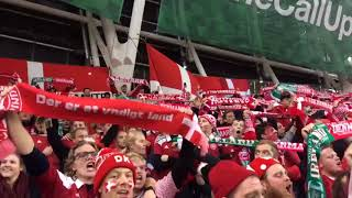 Irland vs. Danmark , Danske fans og spillere nyder at vinde i Dublin