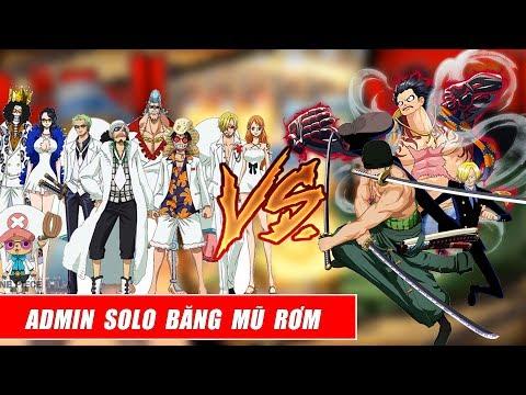 Song đấu One Piece : Admin Thử Tài Solo Băng Hải Tặc Mũ Rơm