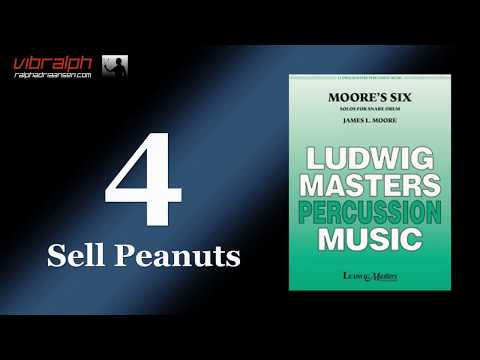 4. Sell Peanuts / Moore's six solos for snare drum - Vibralph