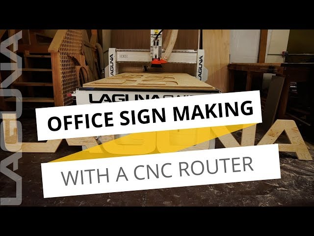 Wood Sign Making with Wesley November - Quick Cuts Laguna Tools Office Front Wood Sign