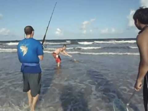 Shark fishing from the shore youtube for Shark fishing from shore