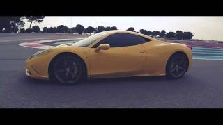 ferrari 458 spéciale jaune ferrari f430 spider jaune ferrari circuit paul ricard girl