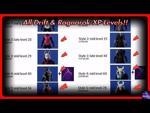 *NEW* Drift And Ragnarok XP To Levels! (XP Milestone Converter) | Fortnite Battle Royale