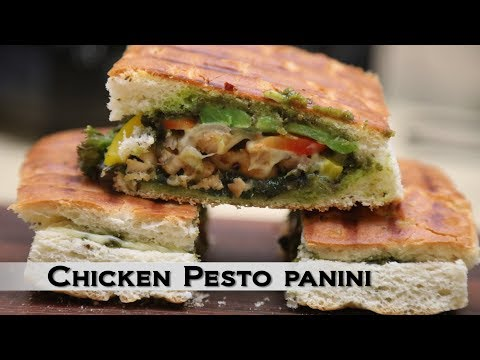 Chicken Recipes | How to Make Chicken Pesto Panini | Healthy Cooking Videos By Food Fiesta