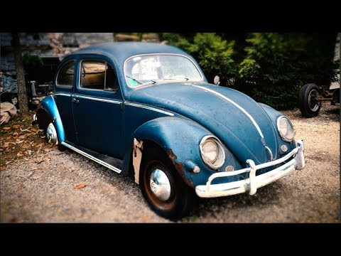 Classic 1956 VW Beetle Build-A-BuG Restoration Project Strato Silver Paint