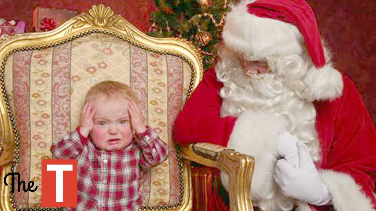 20 Hilarious Pictures Of Kids Meeting Santa On Christmas That Will Make You Laugh