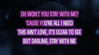 Stay With Me Karaoke Version by Sam Smith (Video with Lyrics)