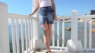 Юбка выше колена джинсовая 457K003