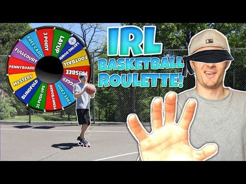 GREATEST BASKETBALL TRICKSHOTS EVER! IRL BASKETBALL ROULETTE MINI GAME