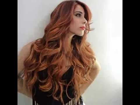 mechas design fire ombre hair