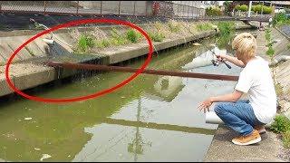 【水温40℃】温泉の流れる水路で釣りをしたら大物が連発した!!!!! thumbnail