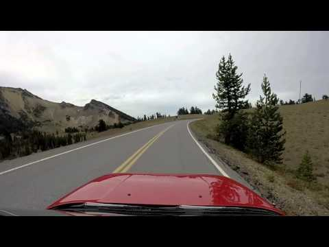 Driving The Rim Road of Crater Lake  Oregon