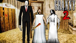 GRANNY 2 OFFICIAL GAME *I ESCAPED THROUGH THE NEW EXIT*   GRANNY HORROR GAME