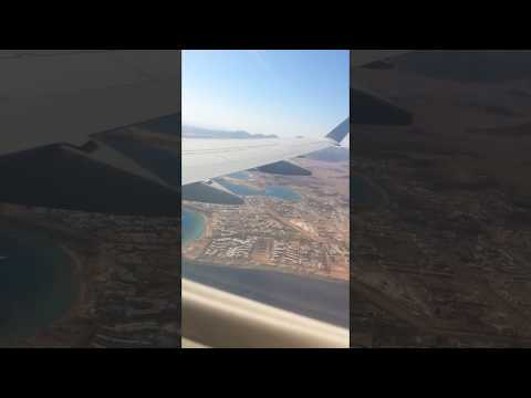 Amazing And natural view , Fly over the Red Sea, Egypt , Hurghada Sky