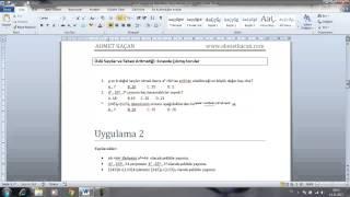 Word 2010 Görsel Eğitim 2 Metin Biçimlendirme