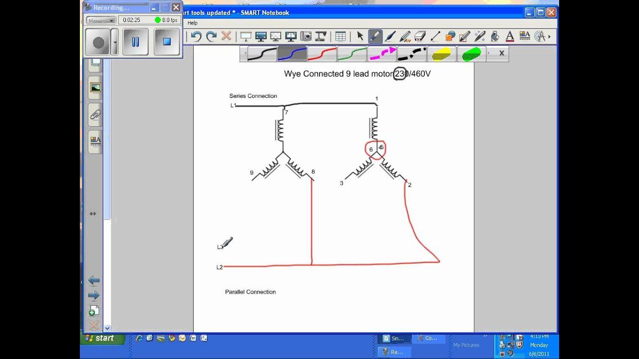 Diagram 3 Phase 9 Lead Wye Winding Motor 3 Phase 9 Lead Wye Winding