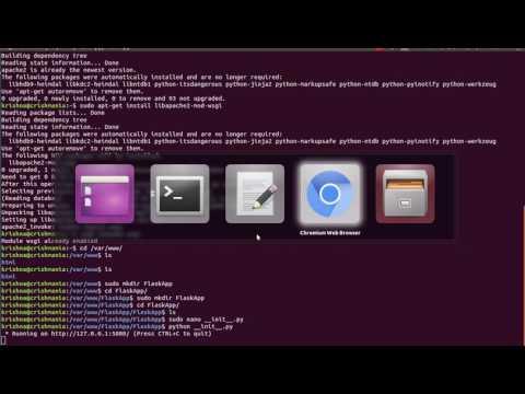 How to run pyhton flask on apache web server