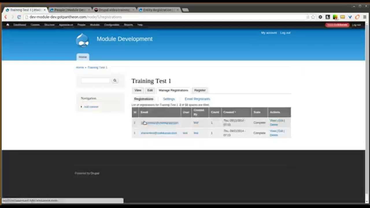 Drupal 7 Entity Registration Module Daily Dose Of Drupal Episode 167 Youtube