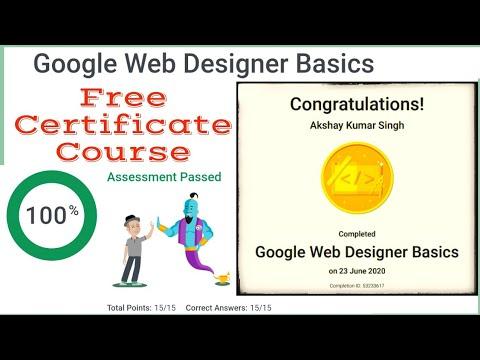 Google Web Designer Free Certificate Course Google Free Online Courses Freecourses I Youtube
