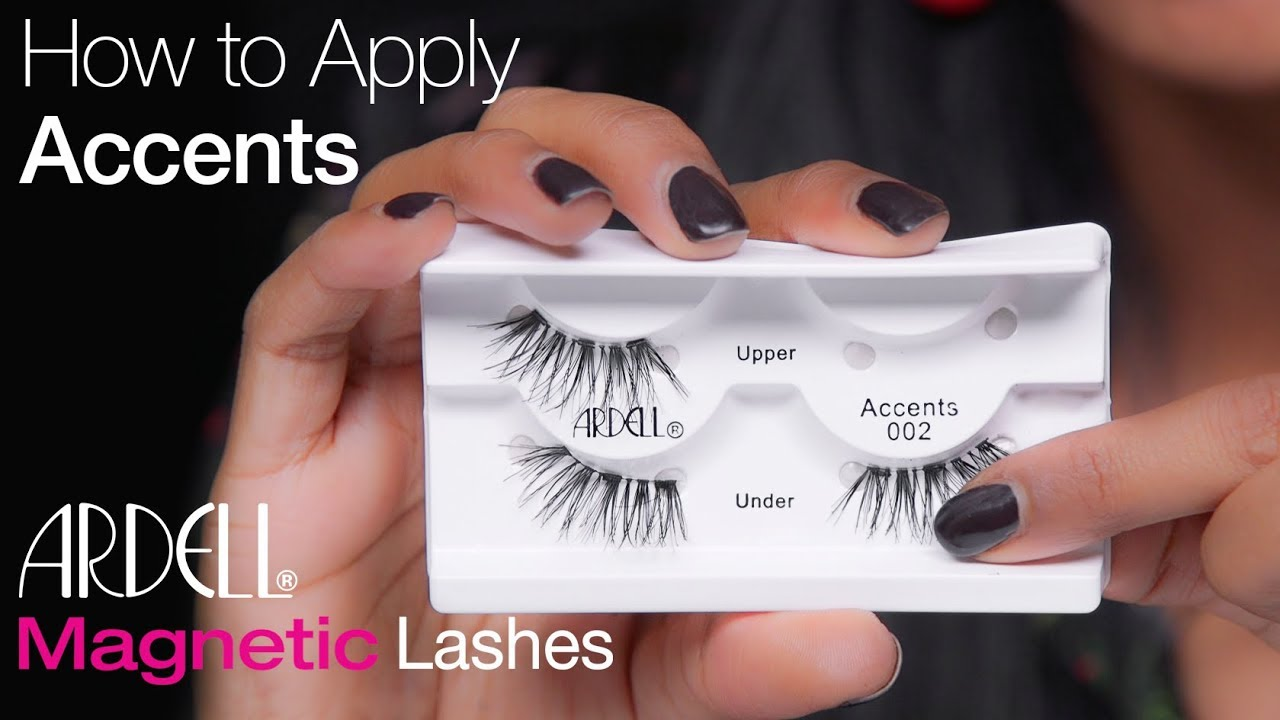 92dc75d4a90 ARDELL - HOW TO APPLY ACCENT MAGNETIC LASHES - YouTube