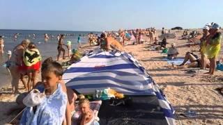 Счастливцево. Отдых у моря середина июля 2015(Как украинцы отдыхают на Азовском море в июле 2015 года., 2015-07-18T20:29:41.000Z)