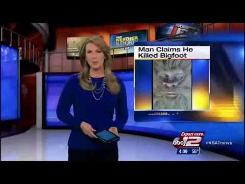 Man Claims Fraudulently he killed Bigfoot in Texas and has it in his Freezer KSAT 1/10/14