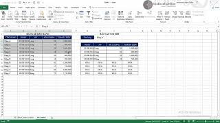 Công thức lập báo cáo chi tiết tự động với hàm offset và index match