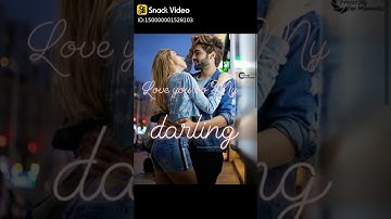 Love You Ooo My Darling .....Love Do Something Something.....Awesome Love Status....