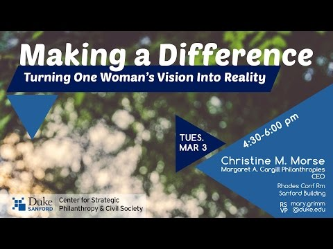 Making a Difference: Turning One Woman's Vision Into Reality