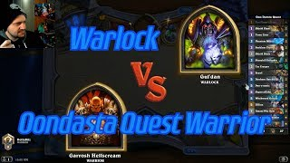 Oondasta Quest Warrior vs Warlock - Hearthstone