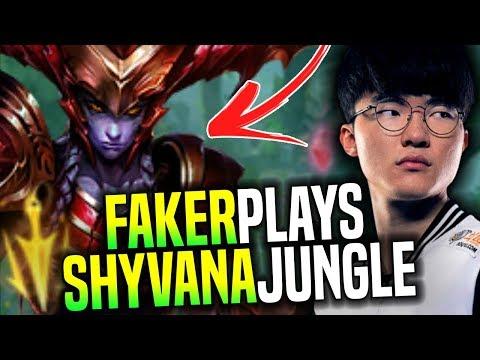 Faker Shyvana Jungle New Meta? - SKT T1 Faker Plays Shyvana Jungle with New Runes Preseason 8!