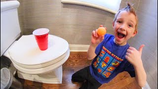 FATHER SON PING PONG TRICK SHOTS 4!