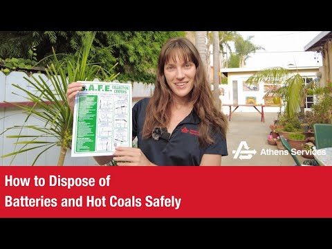 How to Dispose of Batteries and Hot Coals