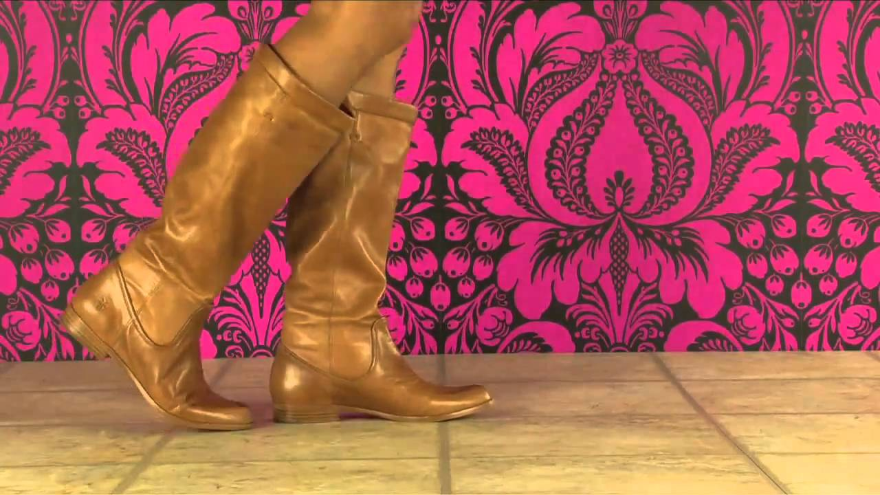 ac68cf305f3e Frye Cindy Slouch in Natural - YouTube