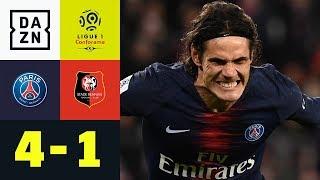 Edinson Cavani trifft doppelt gegen Angstgegner: PSG - Stade Rennes 4:1 | Ligue 1 | DAZN Highlights