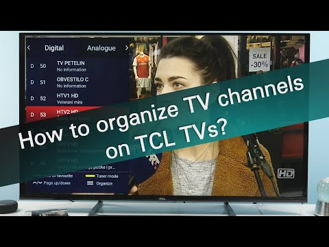 How to organize channel list on TCL TVs?