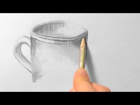 Tasse, zeichnen im Zeitraffer (Cup, drawing in fast motion)[HD]