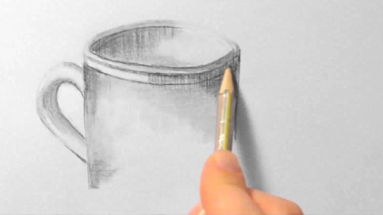 Tasse, zeichnen im Zeitraffer (Cup, drawing in fast motion