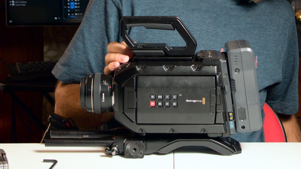 Blackmagic Design Shoulder Mount Kit For The Ursa Mini Youtube