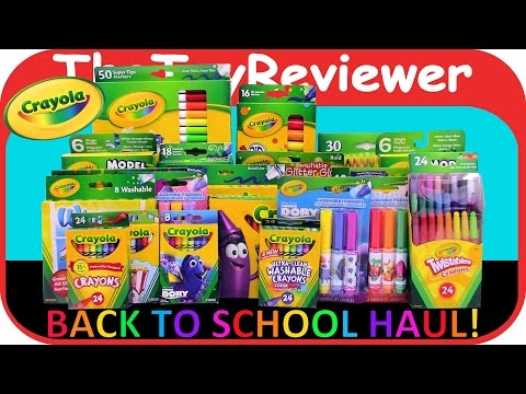 2016-crayola-back-to-school-haul-huge-crayons-markers-pencils-unboxing-toy-review-by-thetoyreviewer