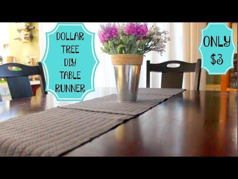 DOLLAR TREE DIY   TABLE RUNNER   FARM HOUSE INSPIRED   VERY EASY