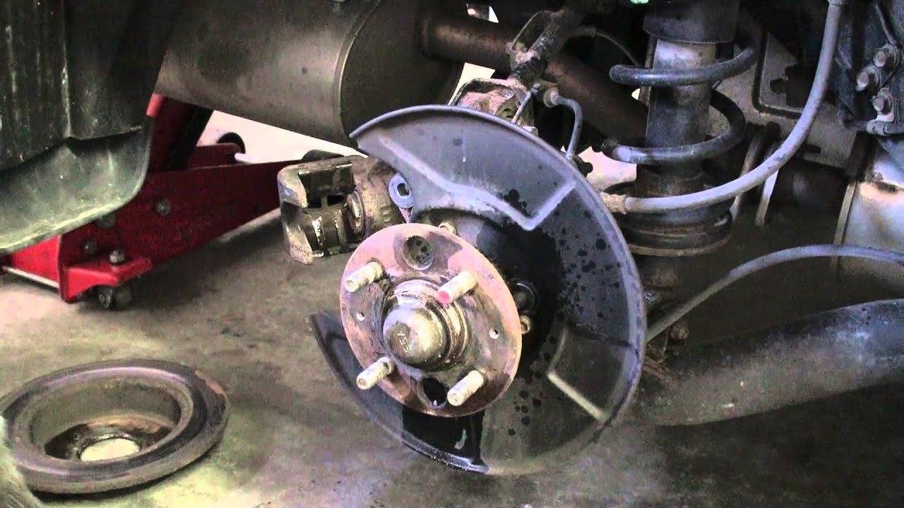 diy acura el honda civic rear disc brake rotor replacement youtube. Black Bedroom Furniture Sets. Home Design Ideas