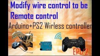Modify line control to wireless Arduino + PS2 wireless