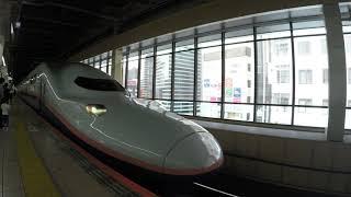 今年秋引退の新幹線車両E4系(ラストランラッピング)大宮駅発車