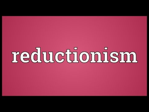 Reductionism Meaning