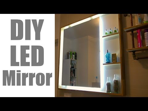 MODERN LED MIRROR for the Bathroom/ Beleuchteter Badezimmer Spiegel zum nachbauen