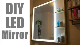 MODERN LED MIRROR for the Bathroom  / Beleuchteter Badezimmer Spiegel zum nachbauen