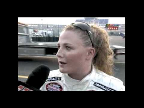 2008 Built Ford Tough 225 - Chrissy Wallace Crash - YouTube