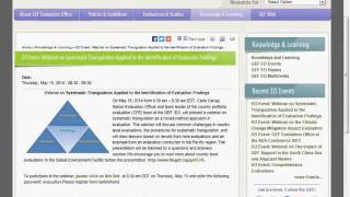 GEF IEO Country Portfolio Evaluation Triangulation by Carlo Carugi